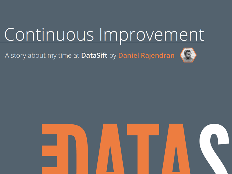 Continuous Improvement - A DataSift Story